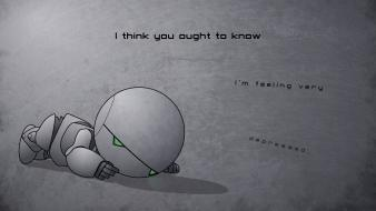Android hitchhikers guide to galaxy androids depression wallpaper