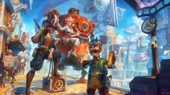 Animal ears artwork futuristic steam punk steampunk Wallpaper