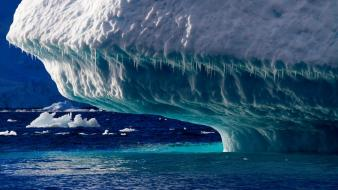 Antarctica seascape blue cold ice wallpaper