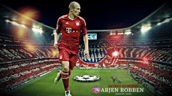 Arjen robben bayern munchen munich football players soccer Wallpaper