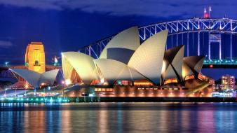Australia sydney midnight opera house wallpaper