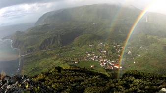 Azores national geographic islands nature rainbows wallpaper