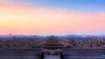 Beijing china ubuntu architecture cityscapes Wallpaper