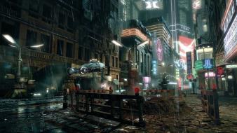 Blade runner architecture cities future police wallpaper
