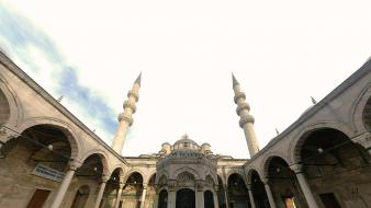 Blue mosque islam islamic art world architecture wallpaper