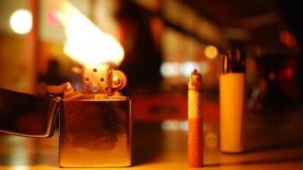 Blurred background bokeh cigarettes flames lighters wallpaper