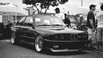 Bmw e30 cars colors engines monochrome wallpaper