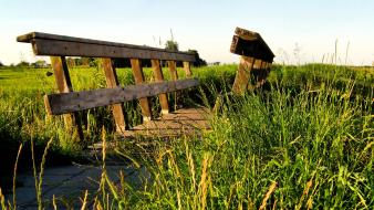 Bridges countryside grass sunny warm wallpaper