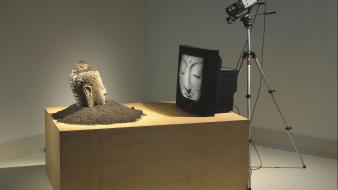 Buddha nam june paik tv artwork cameras wallpaper