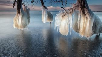 Canada national geographic frozen ice lakes wallpaper