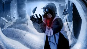 Charles snippy mr. romantically apocalyptic gas masks wallpaper