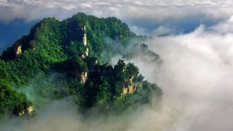 China forests mountains national park wallpaper