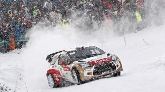 Citroën ds3 wrc cars racing rally snow Wallpaper