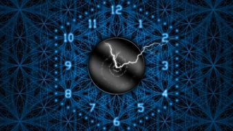 Clocks digital art lightning time watches wallpaper
