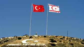 Cyprus turkey turkish flag wallpaper