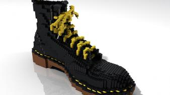 Doc martens legos boots left shoes Wallpaper