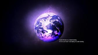 Earth clouds outer space understanding wallpaper
