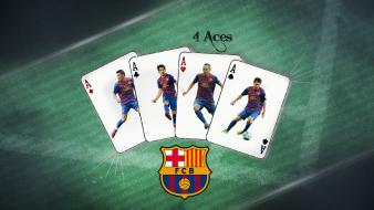 Fabregas david villa fc barcelona lionel messi wallpaper