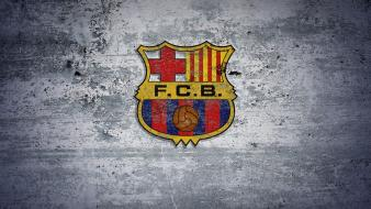 Fc barcelona football logos ancient teams grey wallpaper