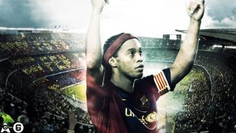 Fc barcelona ronaldinho gaúcho blaugrana football players wallpaper