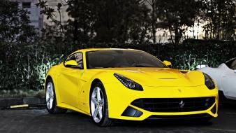 Ferrari cars yellow Wallpaper
