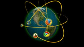Firefox google chrome internet explorer browsers wallpaper