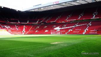 Football pitch old trafford soccer sports Wallpaper