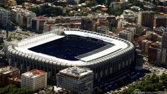 Football soccer santiago bernabeu field stadium wallpaper