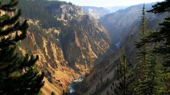 Gc grand canyon yellowstone national park beige blue wallpaper