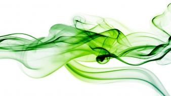 Green smoke background wallpaper
