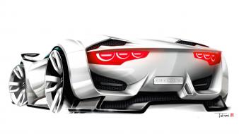 Gt by citroën cars concept art drawings wallpaper