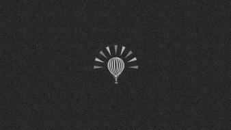 Hot air balloons minimalistic monochrome Wallpaper