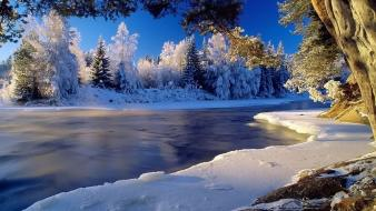 Ice nature outdoors rivers snow Wallpaper