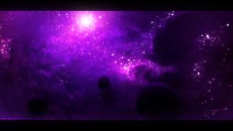 Illusions nebulae outer space planets purple Wallpaper