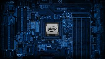 Intel circuits computers components electronics wallpaper