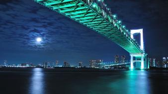 Japan rainbow bridge tokyo cityscapes wallpaper