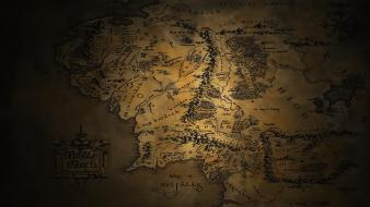 Jrr tolkien middle-earth the lord of rings maps wallpaper