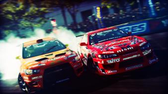 Lancer evolution x nissan silvia s15 drifting wallpaper