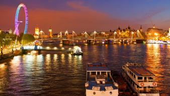 London eye cityscapes colors Wallpaper