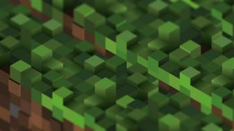 Minecraft cubes grass video games Wallpaper