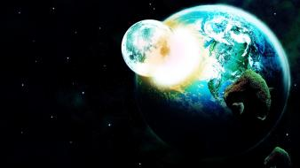 Moon backgrounds outer space planets wallpaper