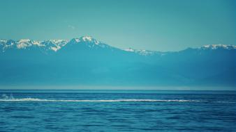 Mountains sea water waterscapes waves wallpaper