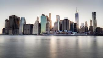 New york city buildings cityscapes skyscrapers sunlight wallpaper