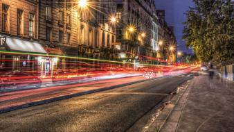 Paris cities city lights street Wallpaper