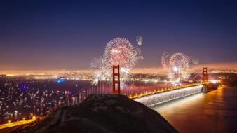 San francisco fireworks landscapes Wallpaper