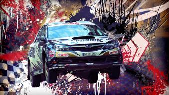 Subaru impreza cars graffiti multicolor rally Wallpaper