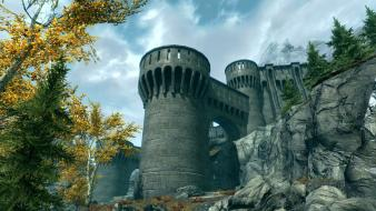 The elder scrolls v: skyrim castles landscapes wallpaper
