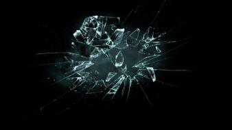Abstract black background broken glass Wallpaper