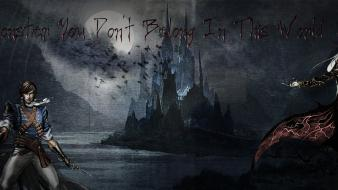 Alucard castlevania dracula moon photoshop Wallpaper