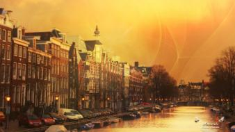 Amsterdam cities photo filters rivers wallpaper
